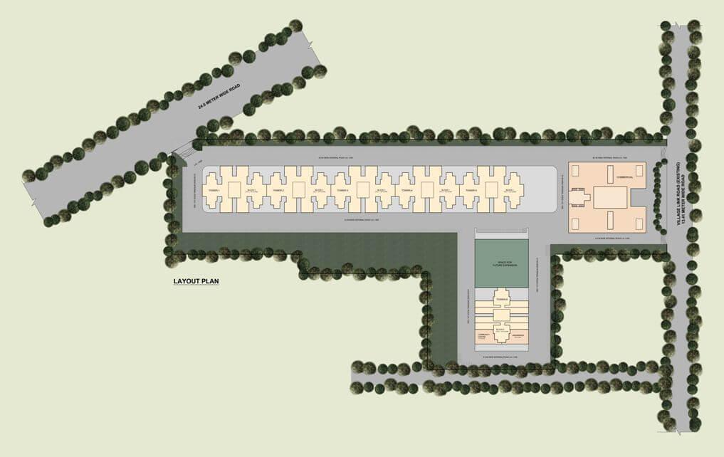 ROF Ananda Home Gurgaon Layout Plan