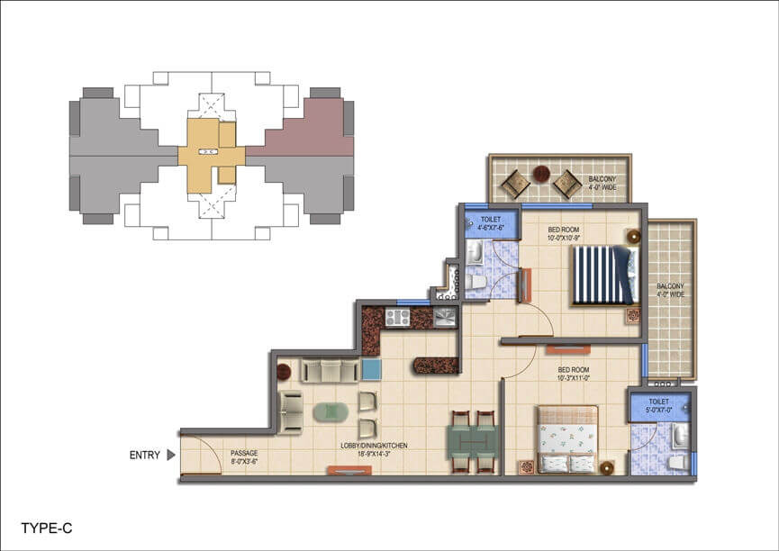 Floor Plan Type A Layout Plan