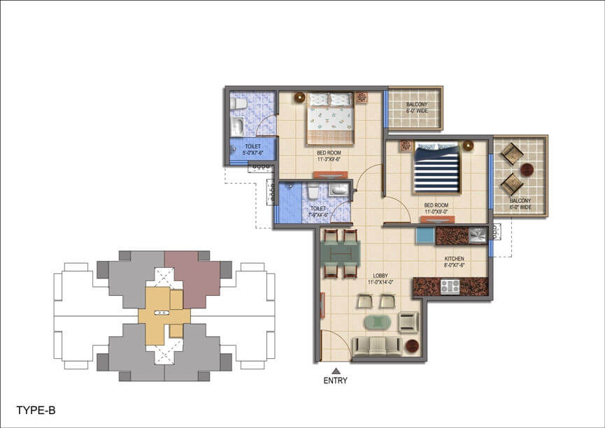 Floor Plan Type B Layout Plan