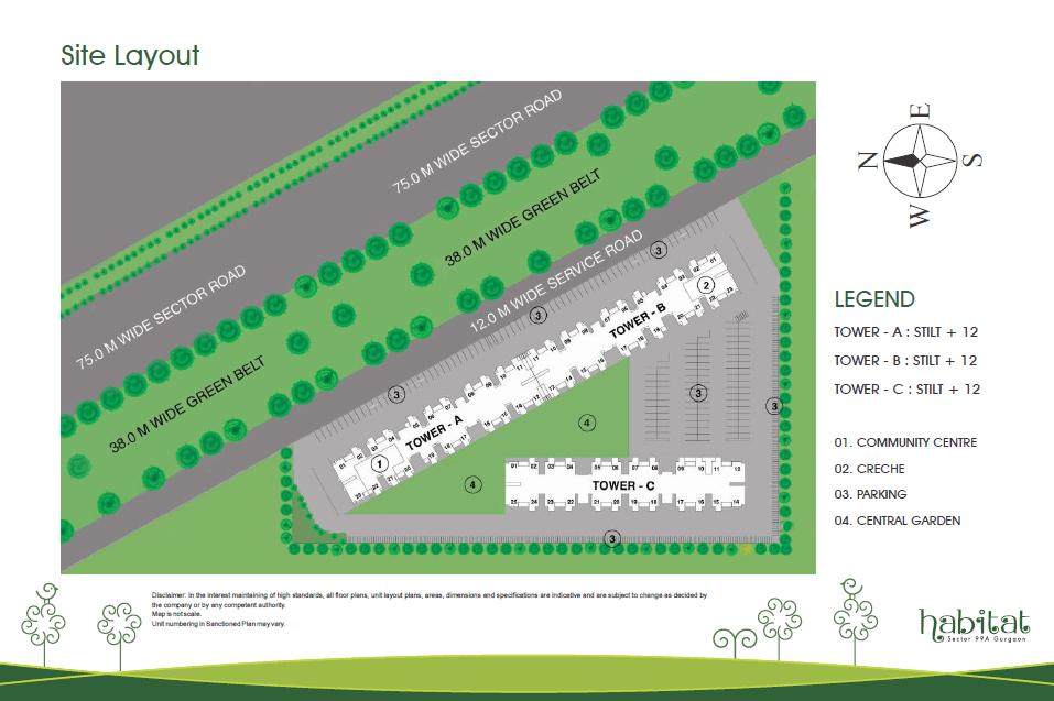 Conscient Habitat Layout Plan