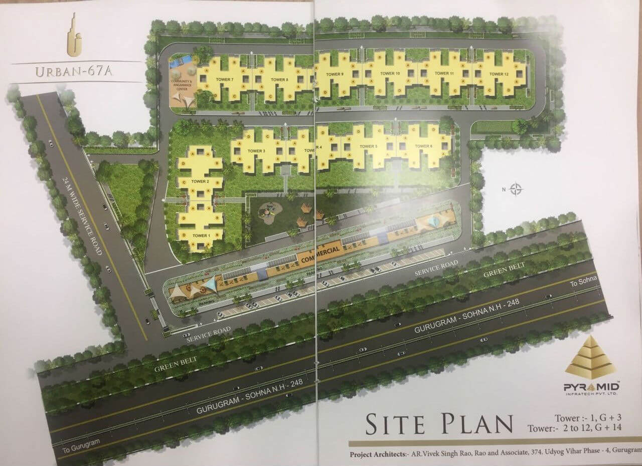 Pyramid Urban Homes Sector 67A, Gurgaon Layout Plan