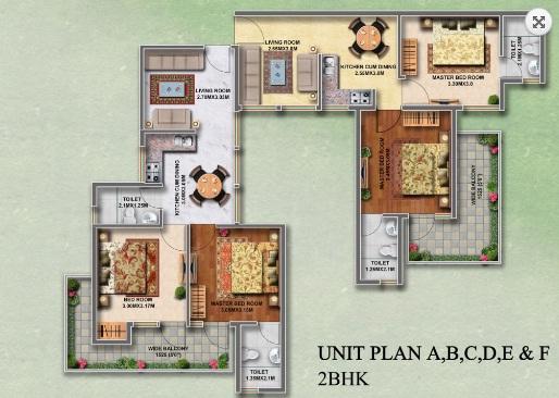 2 BHK Layout Plan