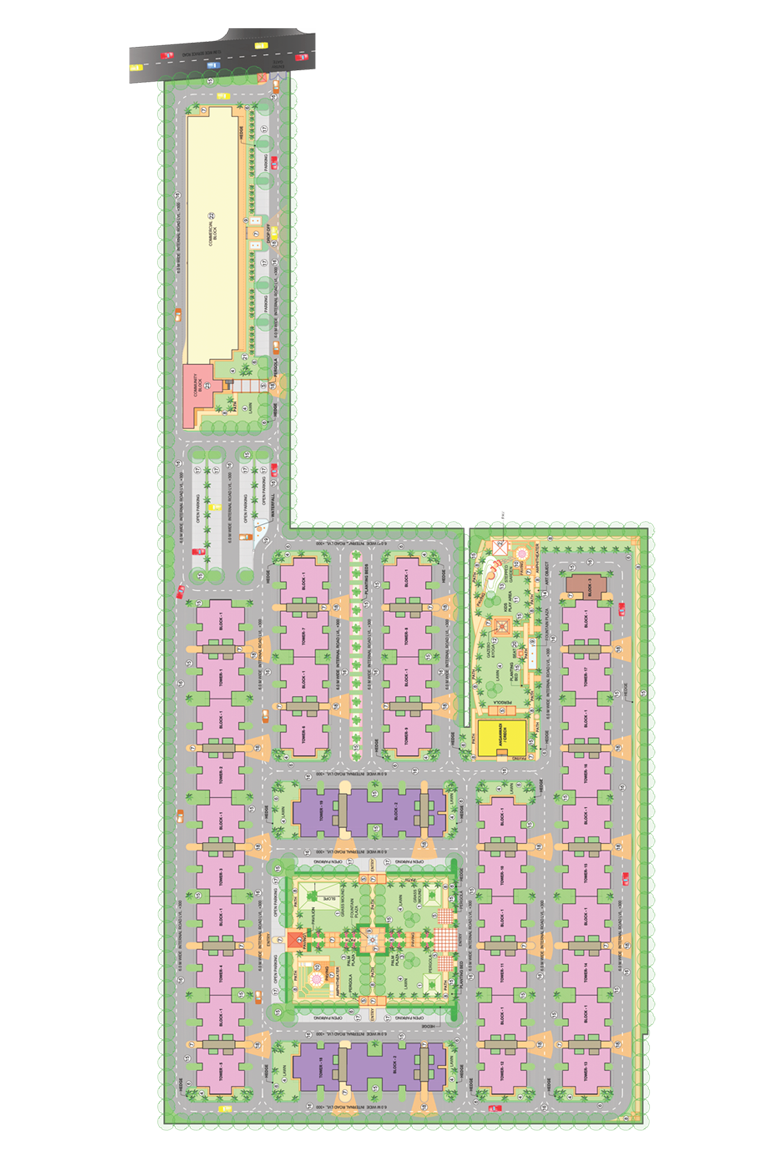 Breez Global Heights Layout Plan