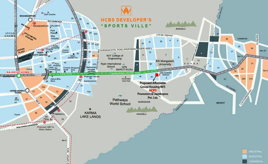 HCBS Sports Ville Layout Plan
