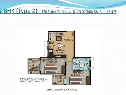 2 BHK Type 2 Layout Plan
