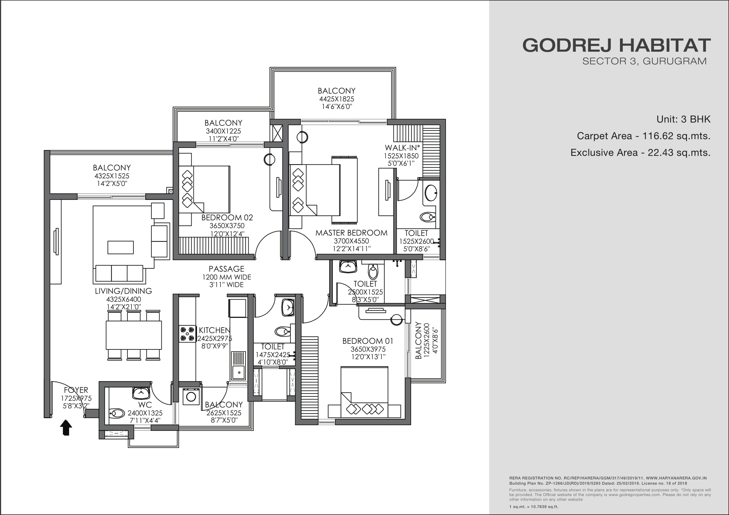 3 BHK Layout Plan