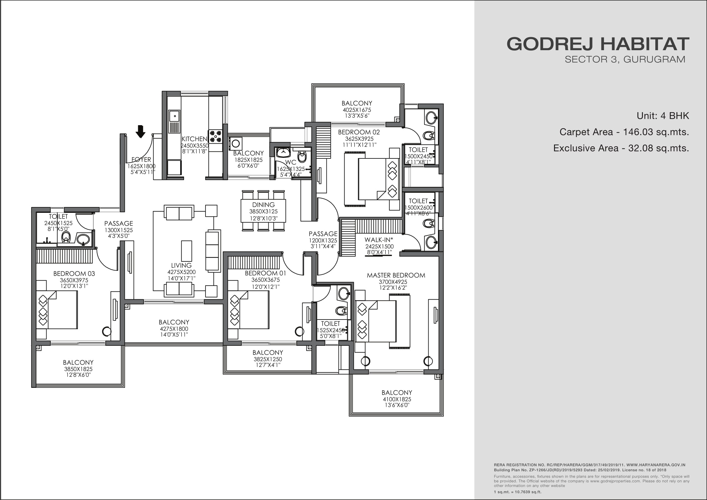 4 BHK Layout Plan