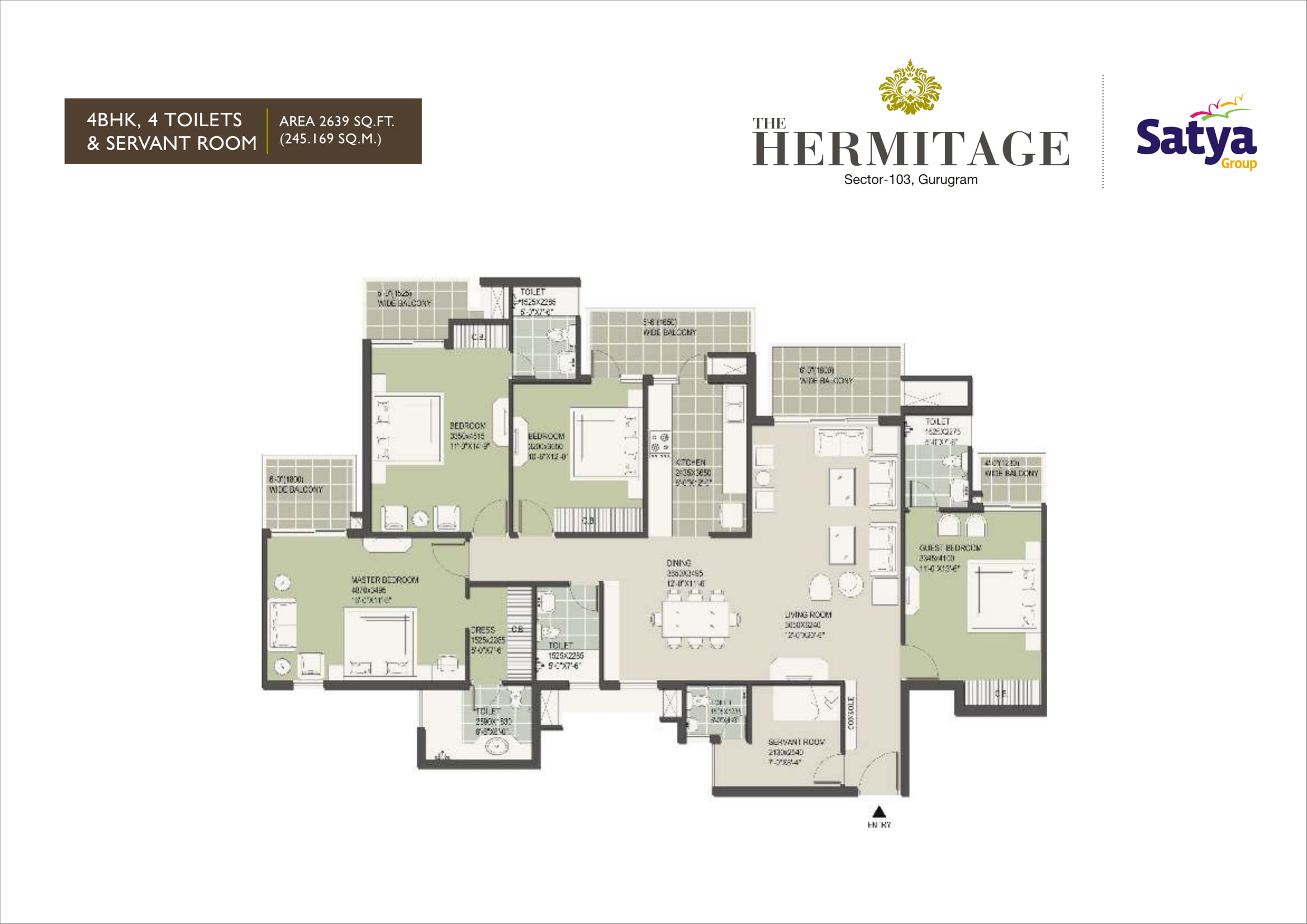 4BHK Layout Plan