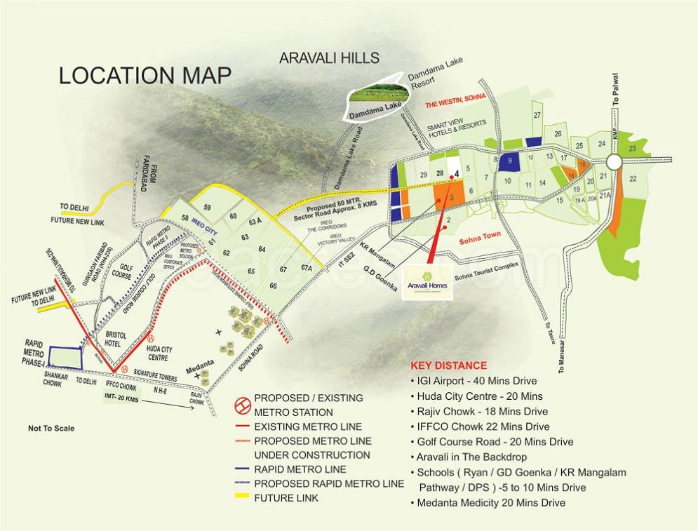 GLS Arawali Homes Layout Plan