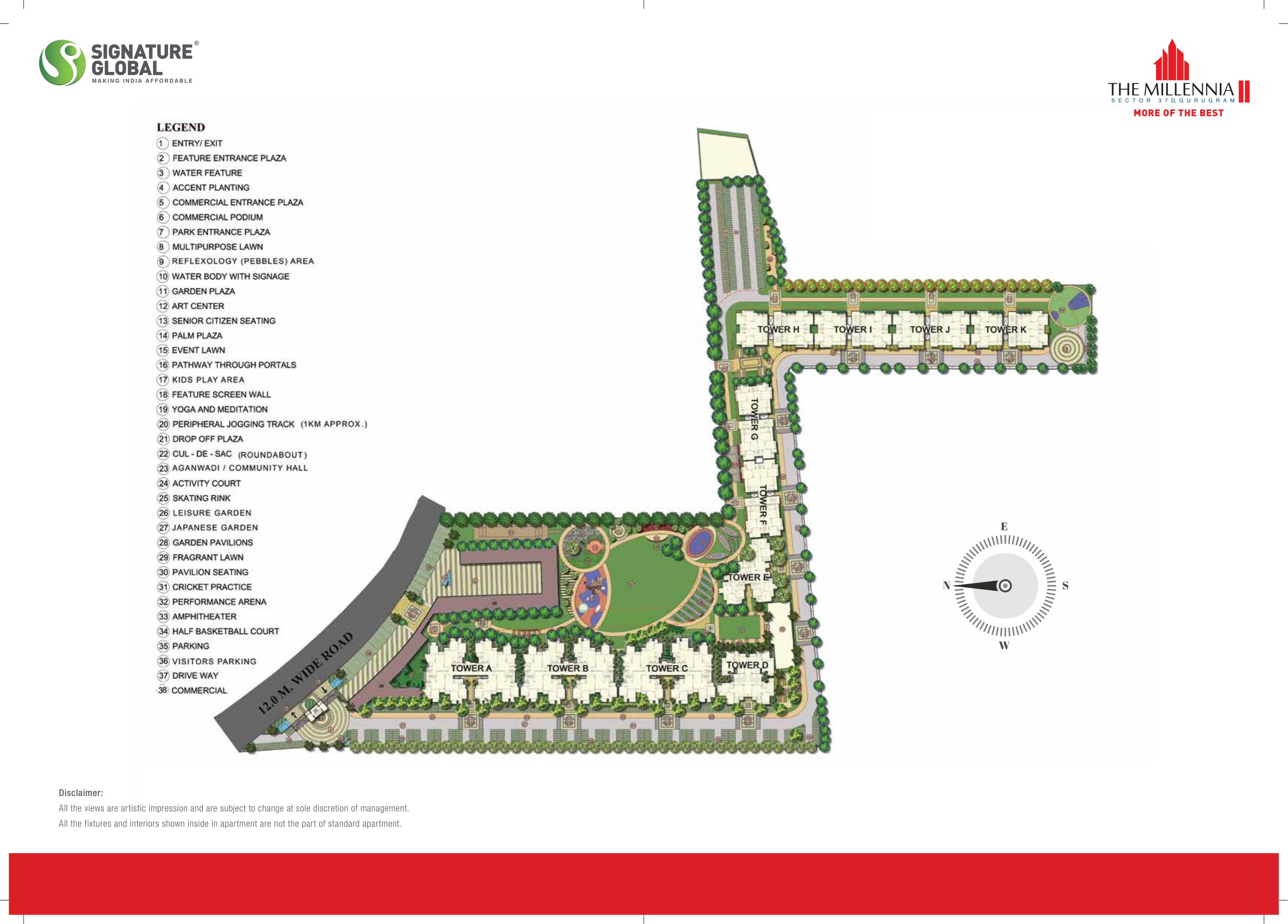 Signature Global Millennia 2 Layout Plan