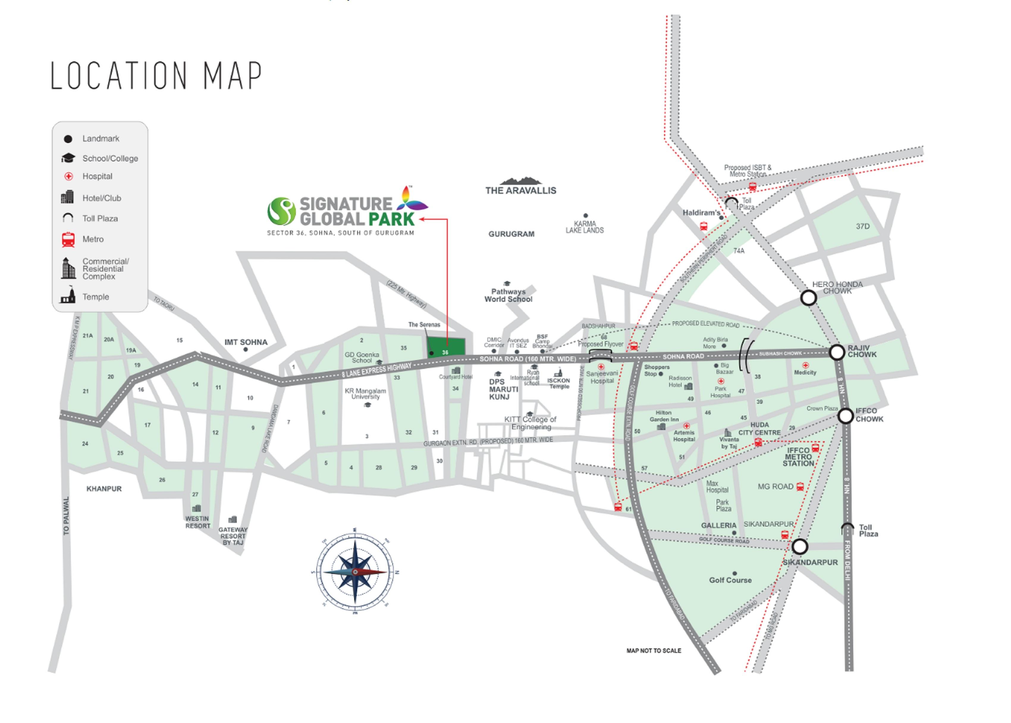 Signature Global Park Layout Plan