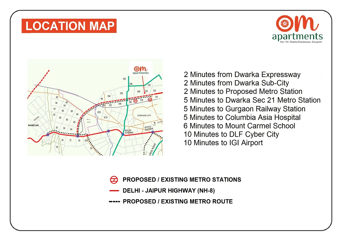 Pareena Om Apartments Layout Plan