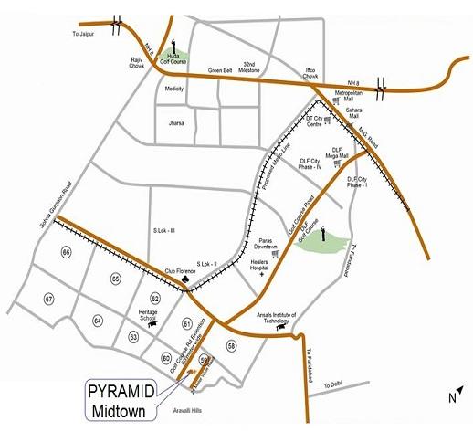 Pyramid Midtown Layout Plan