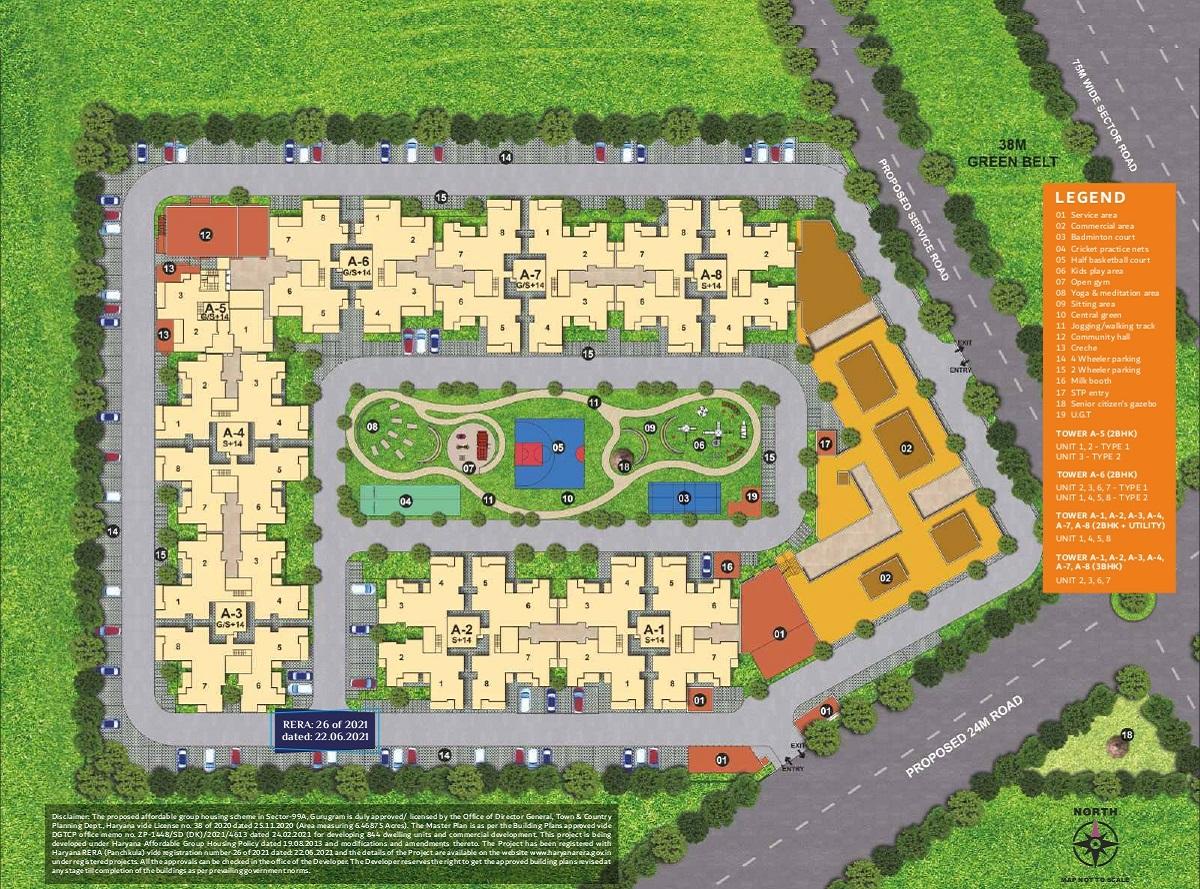 Conscient Habitat Prime Layout Plan