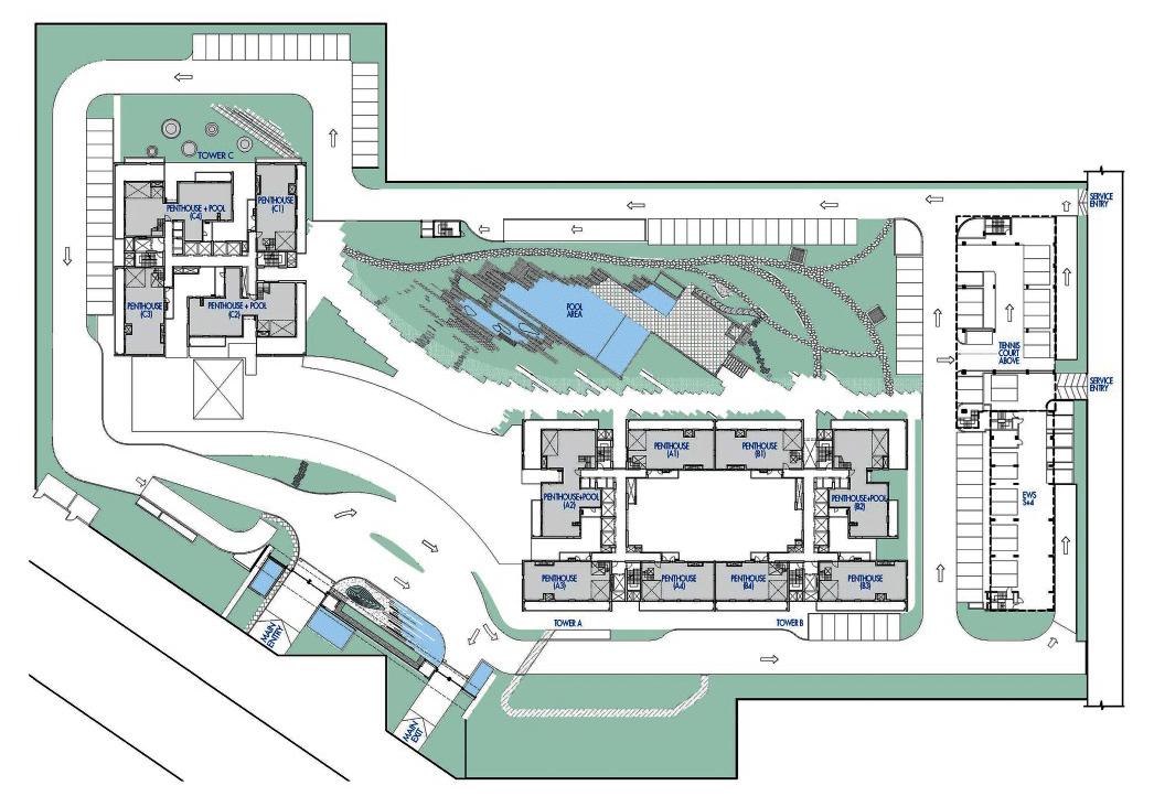 Krisumi Waterfall Residences Layout Plan
