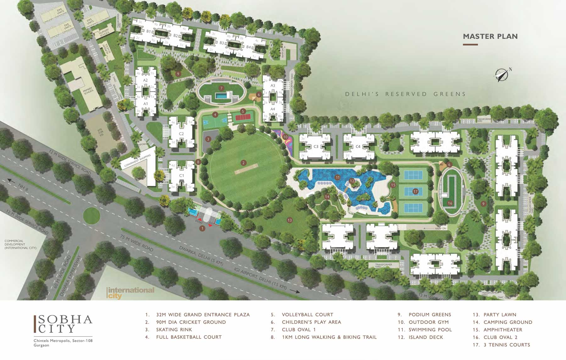 Sobha City Layout Plan